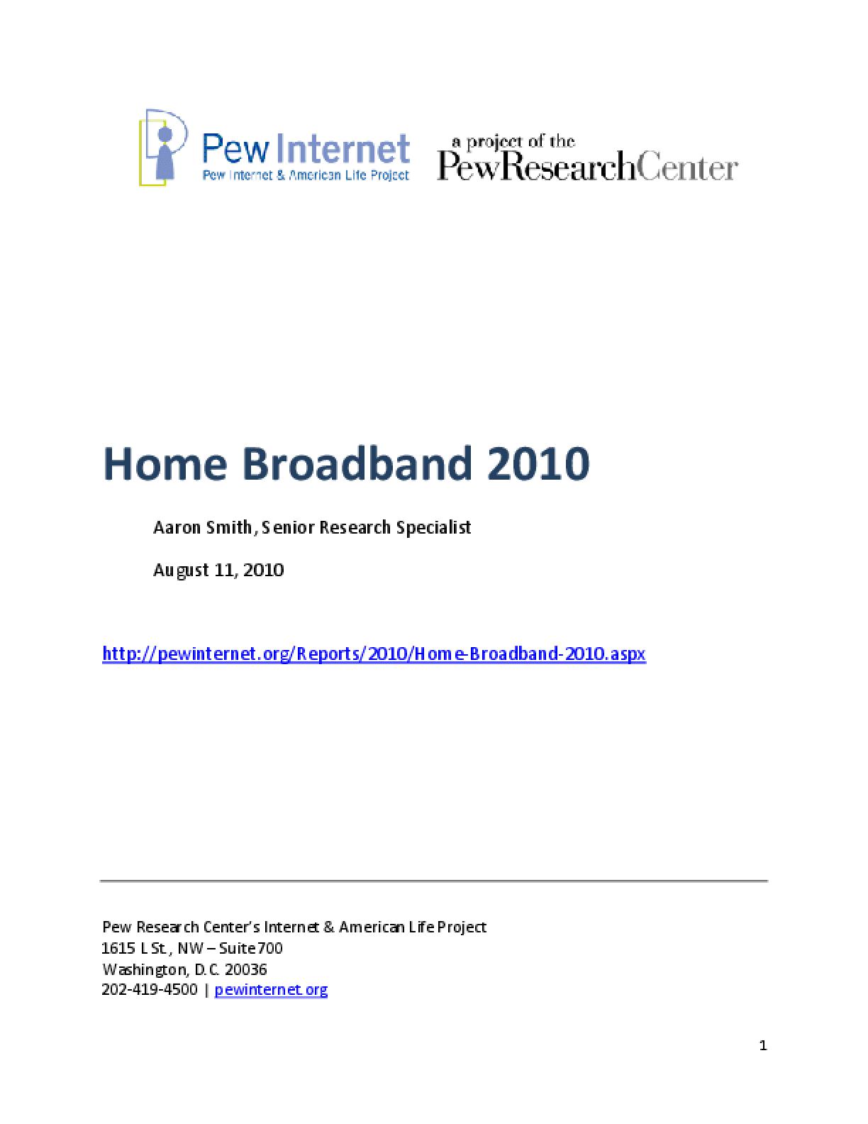 Home Broadband 2010