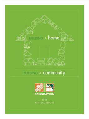 Home Depot Foundation - 2008 Annual Report