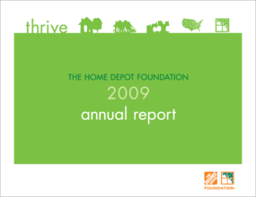 Home Depot Foundation - 2009 Annual Report