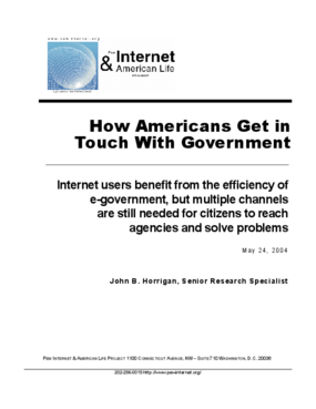How Americans Get in Touch With Government