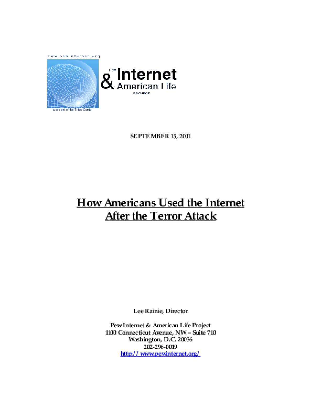 How Americans Used the Internet After the Terror Attack