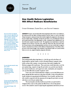 How Health Reform Legislation Will Affect Medicare Beneficiaries