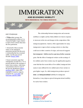 Immigration and Economic Mobility
