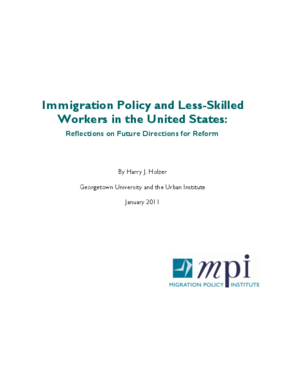 Immigration Policy and Less-Skilled Workers in the United States: Reflections on Future Directions for Reform