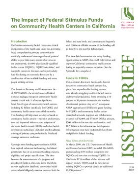The Impact of Federal Stimulus Funds on Community Health Centers in California