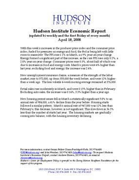 Hudson Institute Economic Report 04-18-2008