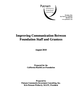Improving Communication Between Foundation Staff and Grantees