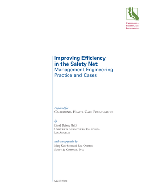 Improving Efficiency in the Safety Net: Management Engineering Practice and Cases
