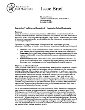 Improving Teaching and Learning by Improving School Leadership