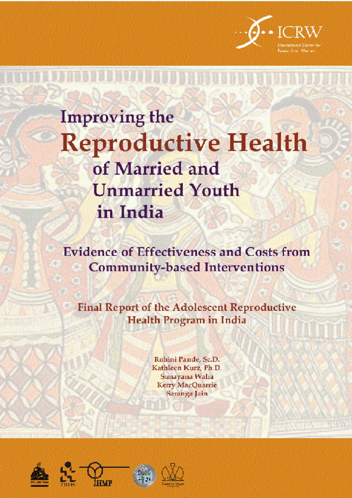 Improving the Reproductive Health of Married and Unmarried Youth in India