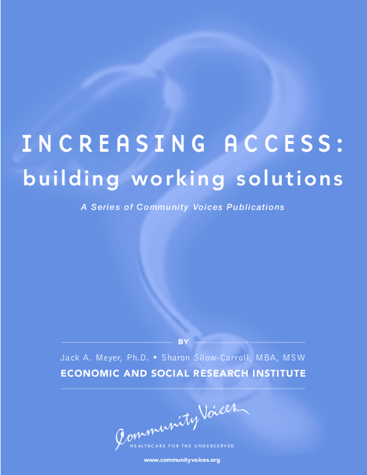 Increasing Access: Building Working Solutions