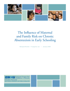 The Influence of Maternal and Family Risk on Chronic Absenteeism in Early Schooling