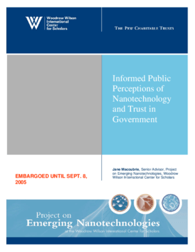 Informed Public Perceptions of Nanotechnology and Trust in Government