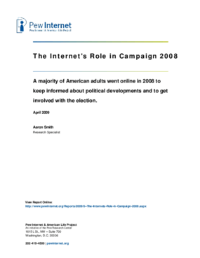 The Internet's Role in Campaign 2008