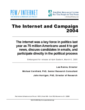 The Internet and Campaign 2004