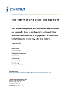 The Internet and Civic Engagement