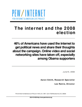The Internet and the 2008 Election