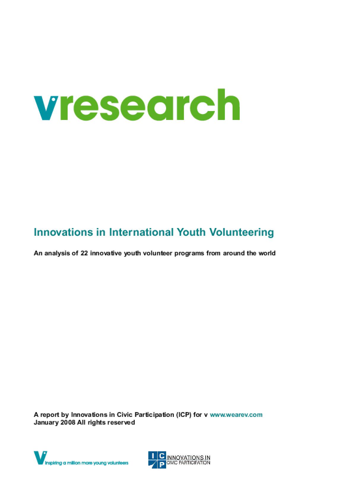 Innovations in International Youth Volunteering