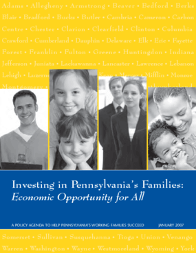 Investing in Pennsylvania's Families: Economic Opportunity for All