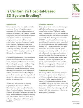 Is California's Hospital-Based ED System Eroding?