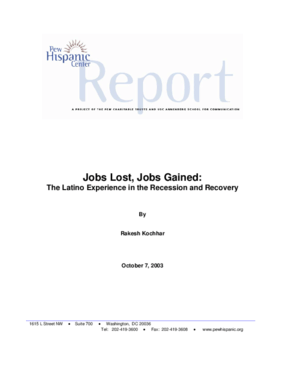 Jobs Lost, Jobs Gained: The Latino Experience in the Recession and Recovery