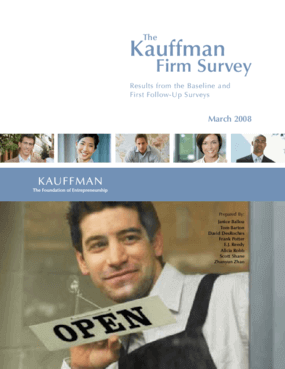 The Kauffman Firm Survey: Results From the Baseline and First Follow-Up Surveys