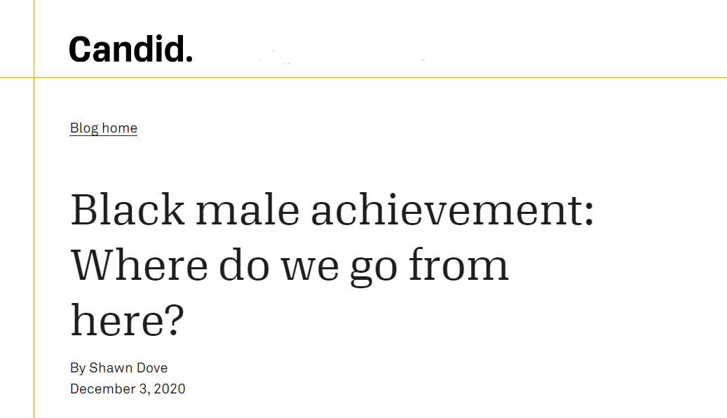 Black male achievement: Where do we go from here?