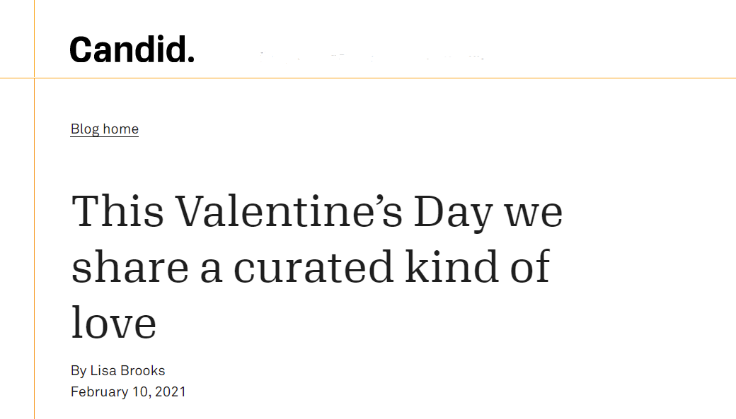 This Valentine's Day we share a curated kind of love